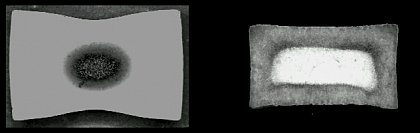 Fig. 2: TEM bright field image of coated BaTiO3 by means of spray hydrolysis