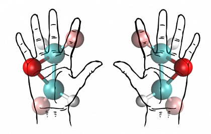 Like our hands, enantiomers are mirror images of one another.